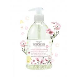 Maternatura - Bagno e shampoo BABY delicato ai fiori di lino. 500 ml